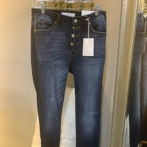 Kancan button fly high rise jeans